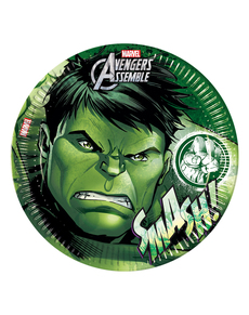 8 assiettes Hulk Avengers Teen 23 cm