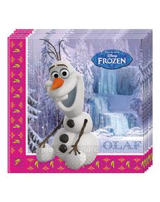 20 serviettes La reine des neiges Alpine