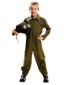 Déguisement pilote de l'armée enfant